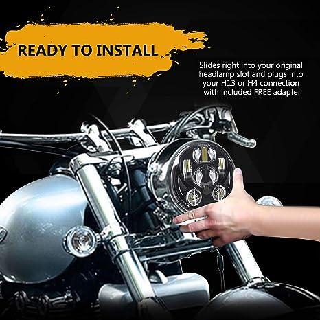 4c3ba2456f 5 - 3/4 5,75 Daymaker Faro LED para Harley Davidson Motocicleta Faro  Proyector conducción luz: Amazon.com.mx: Automotriz y Motocicletas