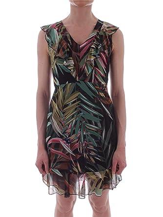 newest 6b2c4 afc3d CARLA MONTANARINI Women's 2601G35GREEN Green Polyester Dress ...