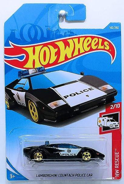Amazon Com Hot Wheels 2019 Hw Rescue Countach Pace Car Police