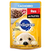 Pedigree Alimento Húmedo Cachorro Res en Filetes, 10 Case