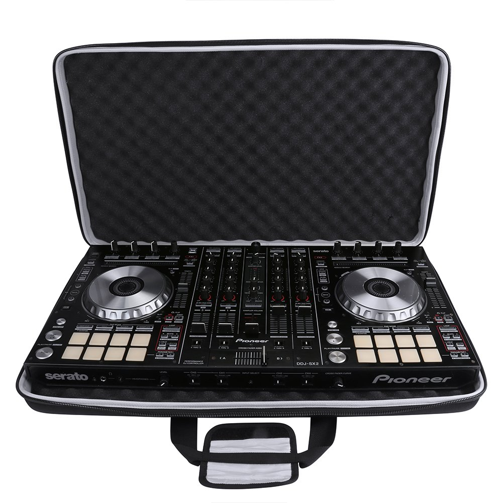 BUBM Musica Attrezzatura Carry Case Borsa per Pioneer DJ RB, Denon MC6000 NUMARK PARTY MIX, NUMARK Mixtrack PROII (L, Nero)