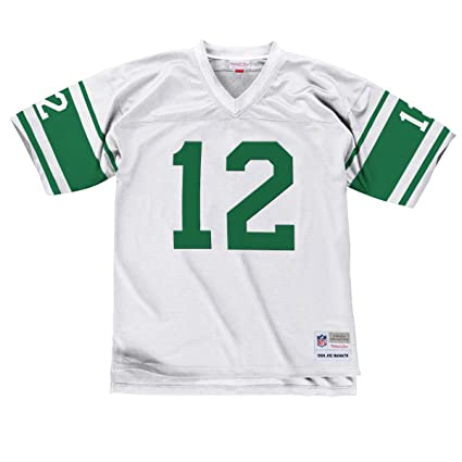 Image Unavailable. Image not available for. Color  Mitchell   Ness Joe  Namath 1968 New York Jets Road White Legacy Jersey Men s 566cf8da1