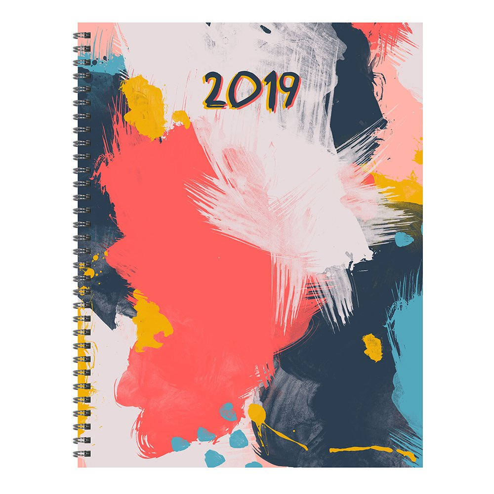 Time Factory Abstract 9'' x 11'' January -December 2019 Large Weekly Monthly Planner (19-9715)