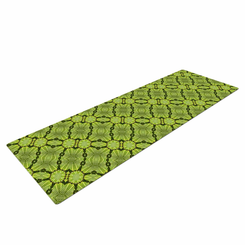 72 X 24 72 X 24 KESS Global Inc LN1034AYM01 KESS InHouse Laura Nicholson Leafy Lozenges Green Abstract Yoga Mat