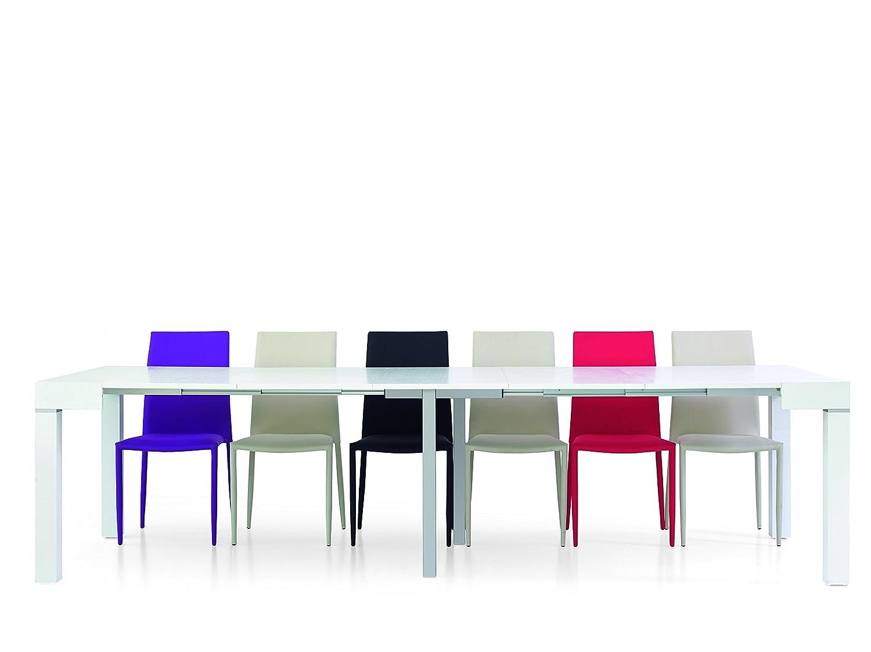 Legno Bianco Frassinato : Fashion commerce fc601v consolle allungabile legno bianco 110 x