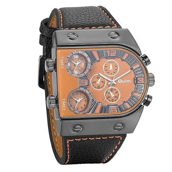 f77b7ab8c11a Avaner Grande Reloj Deportivo Militar para Hombre 3 Zonas de Horario  Diferente