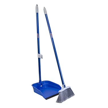 Quickie Stand and Store Stand & Store Lobby Broom and Dustpan Set (487), 1-Pack