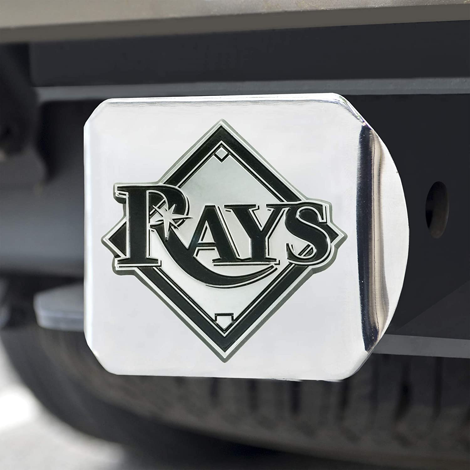 Tampa Bay Rays Hitch Cover Chrome FANMATS 26728 MLB