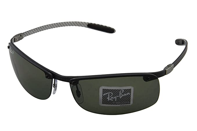 57d1d22365 ... low cost ray ban tech carbon fibre rimless wrap sunglasses in light  carbon green polarised rb8305