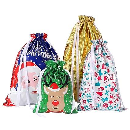 Amosfun bolsas de regalo de Navidad, 30 unidades, bolsa de ...