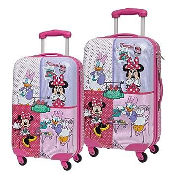 Disney Set de Maletas Minnie y Daisy, 55/67 cm, 86 litros, Rosa: Amazon.es: Equipaje