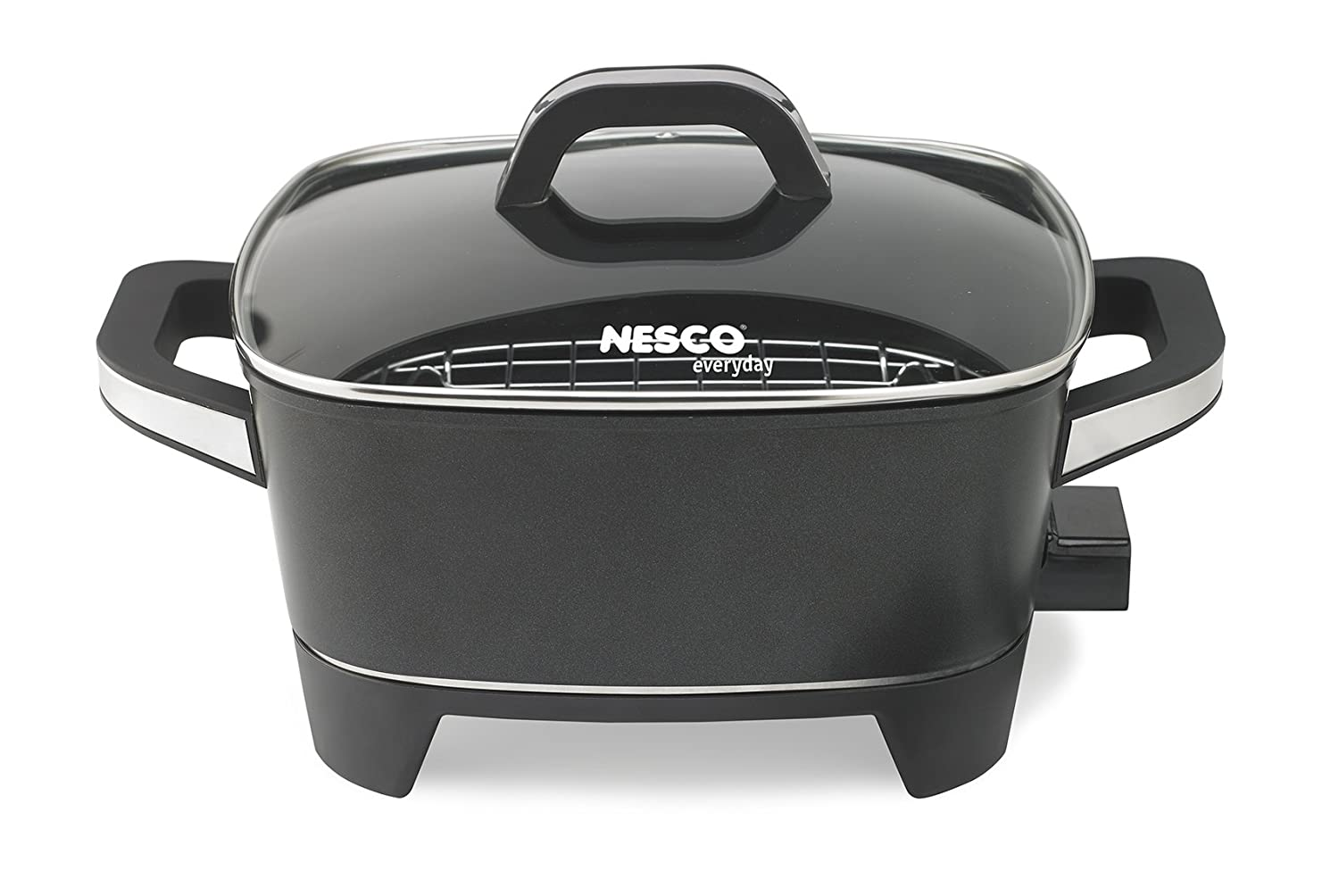 NESCO ES-12, Extra Deep Electric Skillet, Black, 12 inch, 1500 watts
