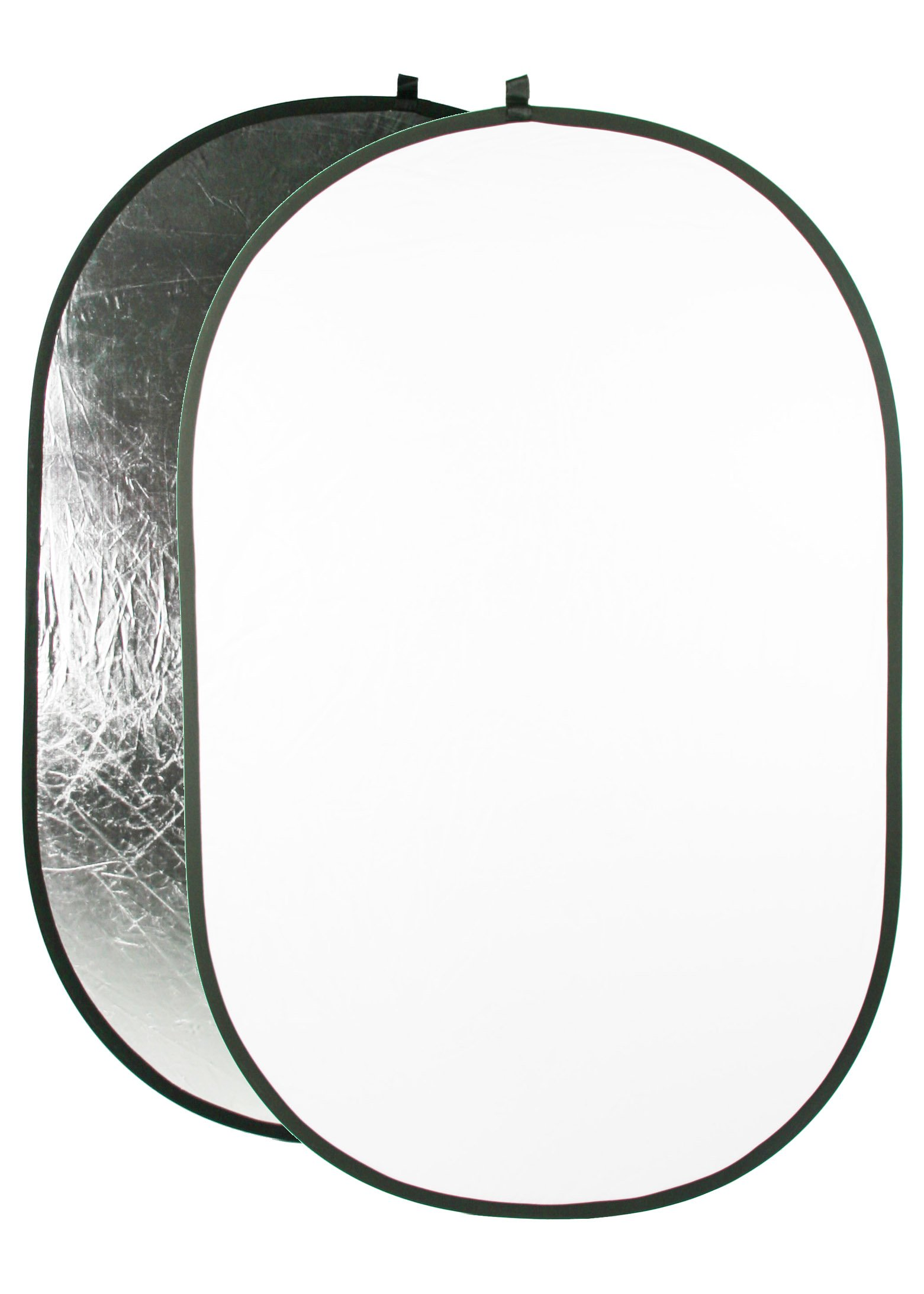 ePhoto Collapsible Photo Photography Video Studio Oval Reflector Disc - Silver/White 43'' x 66'' REF4366SW by ePhoto