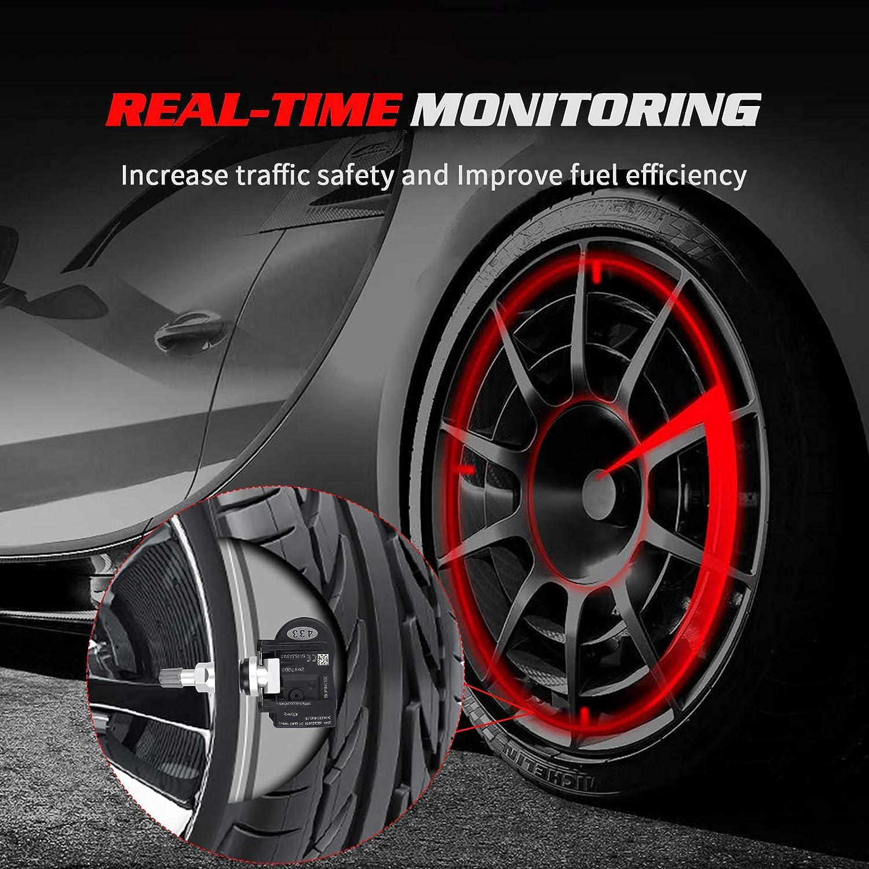433Mhz Replacement for Dodge 12-13 Avenger OTUAYAUTO TPMS Sensor 56053031AD 4Pcs Tire Pressure Monitoring System Sensor Jeep 08-12 Grand Caravan Chrysler 08-12 Town/&Country