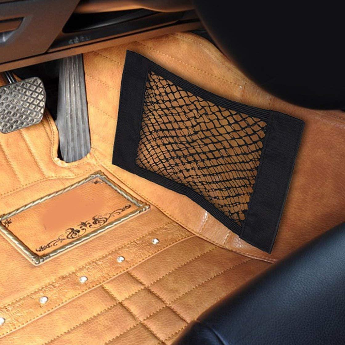 Filet de rangement pour coffre de voiture avec filet de rangement pour ruban adh/ésif Accessoires de voiture Sac de rangement int/érieur pour organiseur pour bouteilles//produits d/épicerie