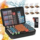Battery Organizer Storage Box, Fireproof Waterproof Explosionproof Carrying Batteries Case,ZesGood Battery Storage Organizer