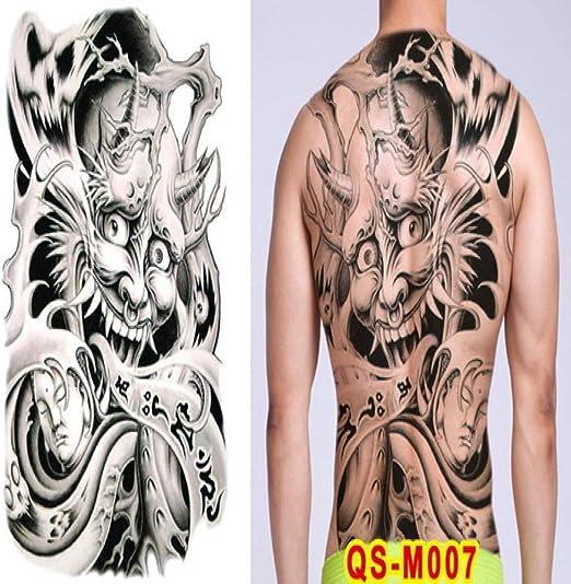 Handaxian 2 unids-Tatuaje japonés Geisha Femenino Tatuaje Temporal ...