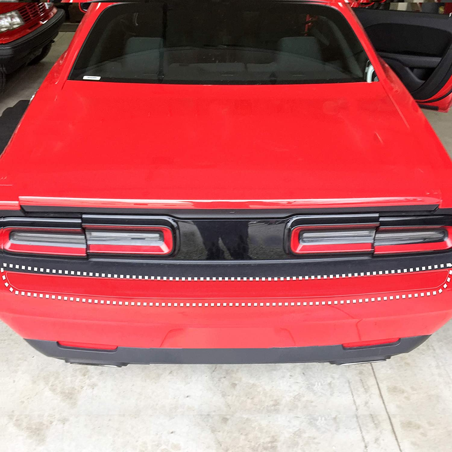 Red Hound Auto Rear Bumper Paint Protection Film 2015-2018 Compatible with Dodge Challenger 1pc Custom Guard Clear Applique Cover Premium Self Healing 4332946452