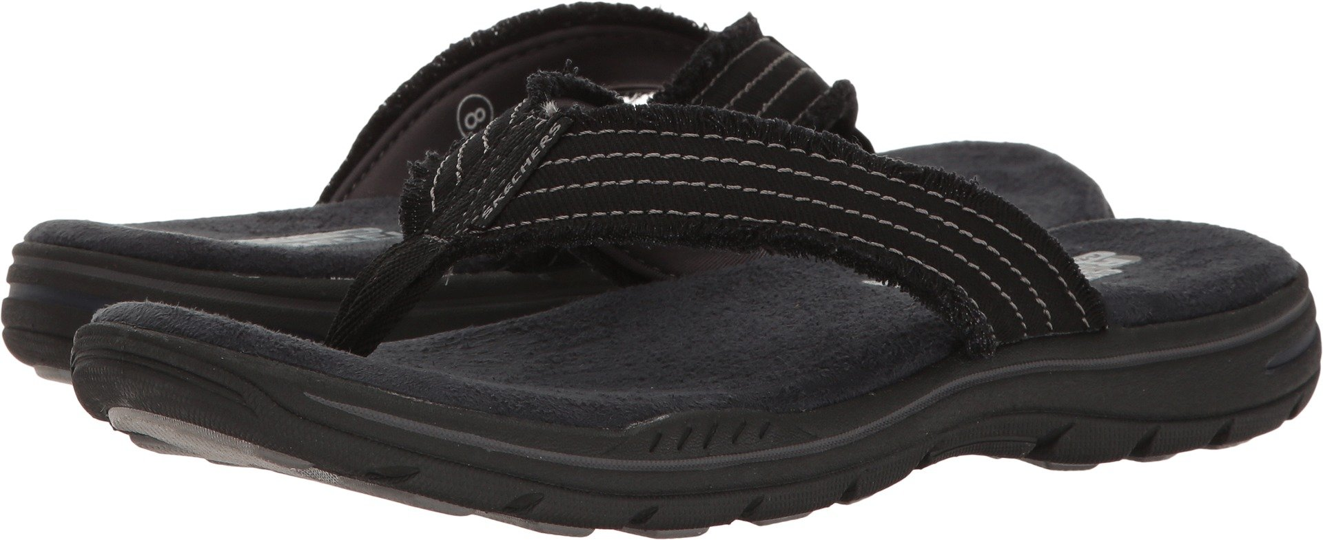 Skechers USA Men's Evented Arven Flip Flop,Black,13 M US