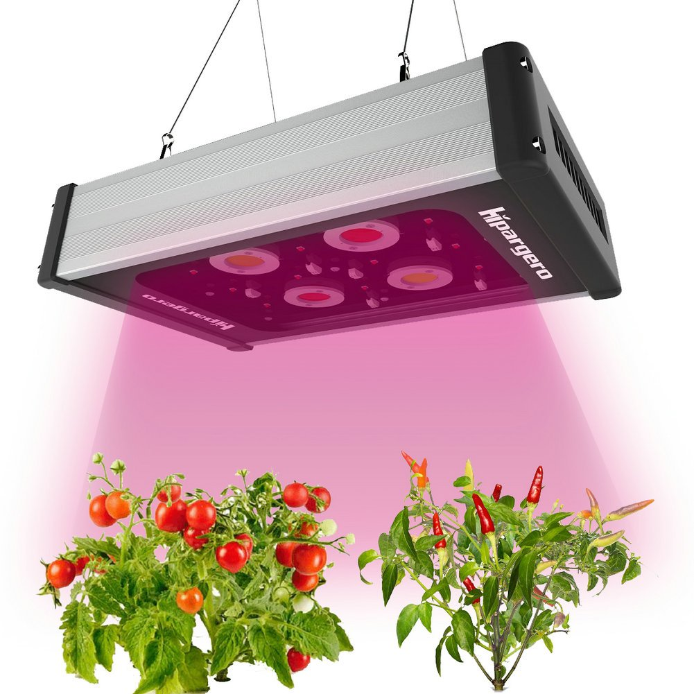 LED Grow Light - Hipargero 400W COB LED Grow Lights Fixture for Indoor Plants Veg and Flower Lighting with 1200K 3000K 5000K Full Spectrum COBs and High Power 5W Cree LEDs by HIPARGERO