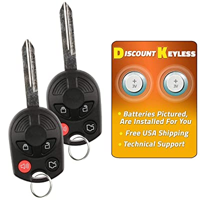 For 00-16 Ford Lincoln Mercury Mazda Keyless Entry Remote Key Fob Uncut 4btn OUCD6000022 164-R7043-2 PACK: Automotive