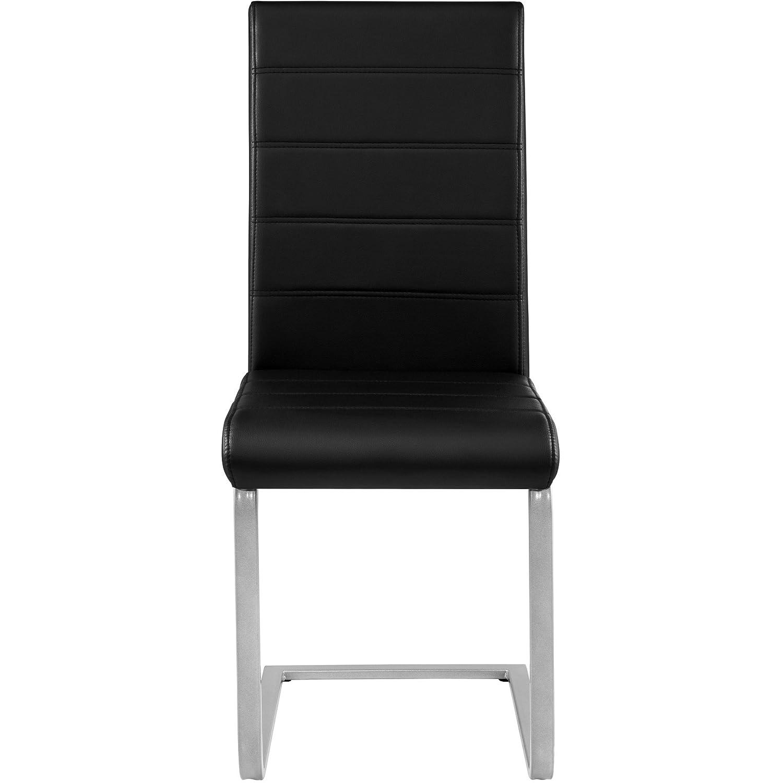 4x nero | Nr. 402553 TecTake Set di sedia a sbalzo per sala da pranzo | disponibile in diversi colori e quantit/à