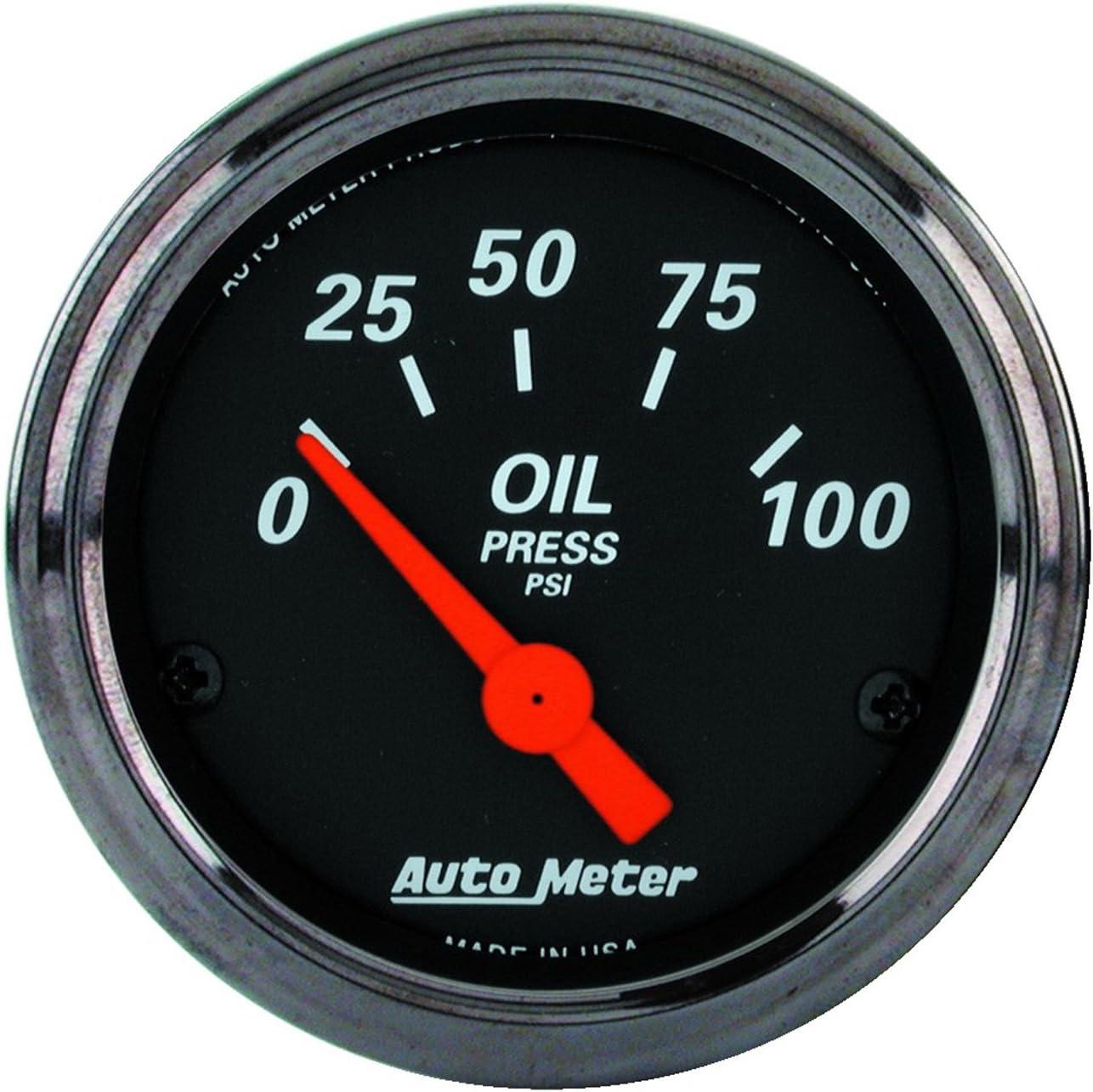Auto Meter 1427 Designer Black Oil Pressure Gauge