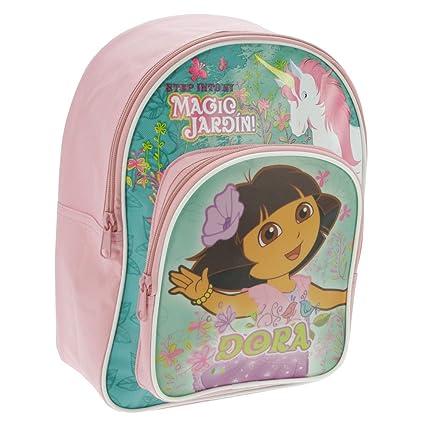 Mochila Garden Bag Marca Colecciones Dora Enchanted escuela con bolsillo frontal