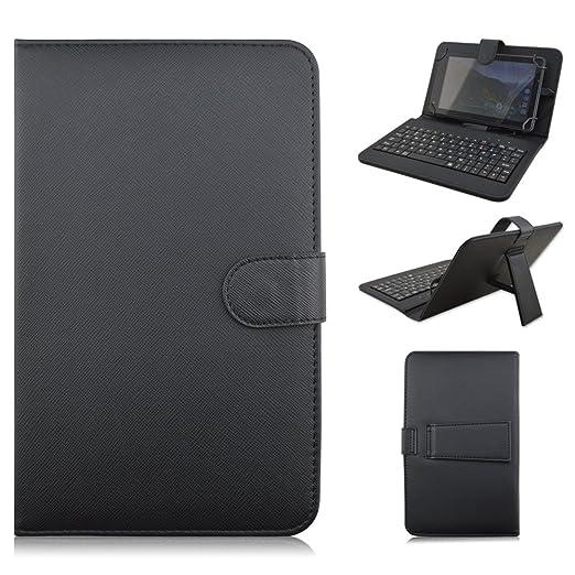 Amazon.com: kimiyoo Piel Sintética Micro USB Keyboard Case ...