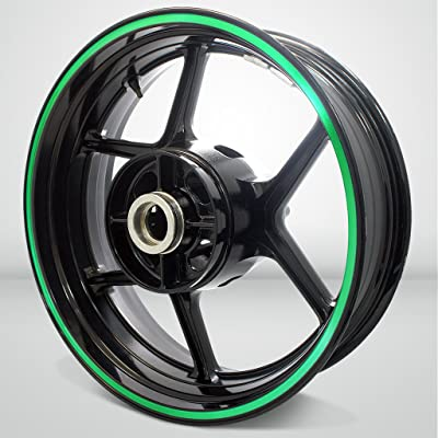 Thick Outer Rim Liner Stripe for Kawasaki ZX10R Reflective Green