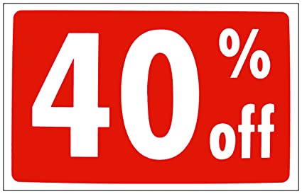 532c08de5a4e Image Unavailable. Image not available for. Color  40 off Signs Store  Business Signs in Store Signage Plastic Sale Sign