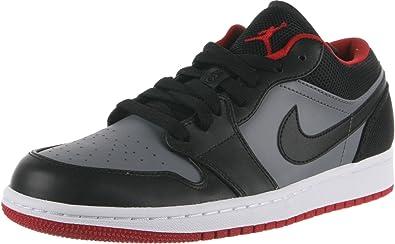 Air Jordan 1 Retro Low - Black/Cool Grey-Gym Red, 9 D US ...