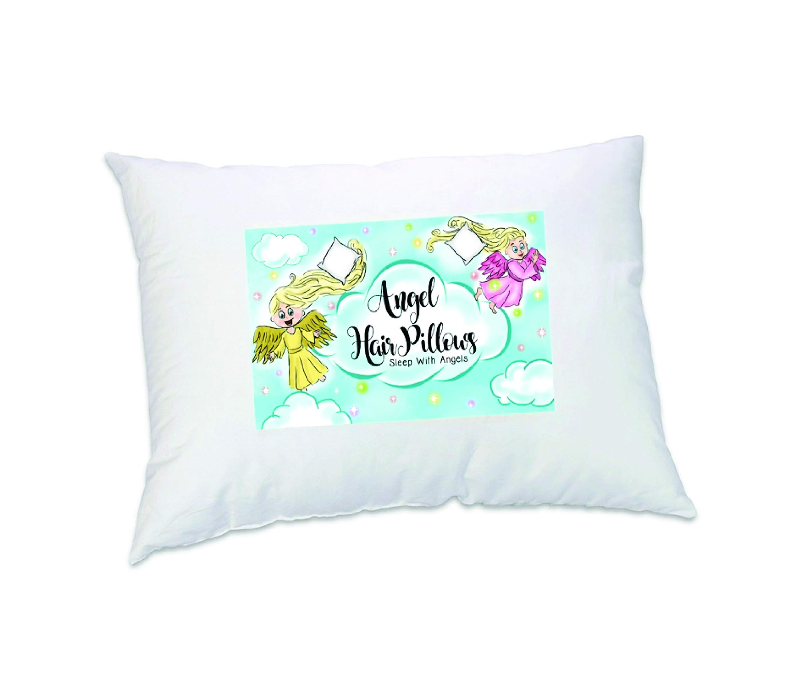 Babydays Toddler Pillow 13 X 18 White Hypoallergenic, Anti Clumping,❤ Angel Hair ❤ Toddler Pillows, Ultra Soft Plush, Kids Best Small Pillow for Better Sleeping Made in The USA by Babydays