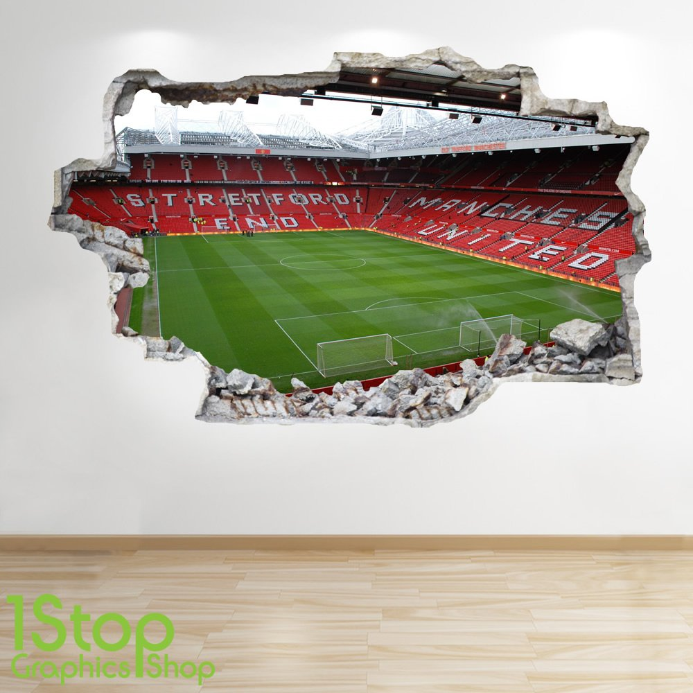 Manchester united wall sticker choice image home wall decoration manchester united rugs roselawnlutheran manchester united stadium wall sticker 3d look boys kids football bedroom z48 amipublicfo Images