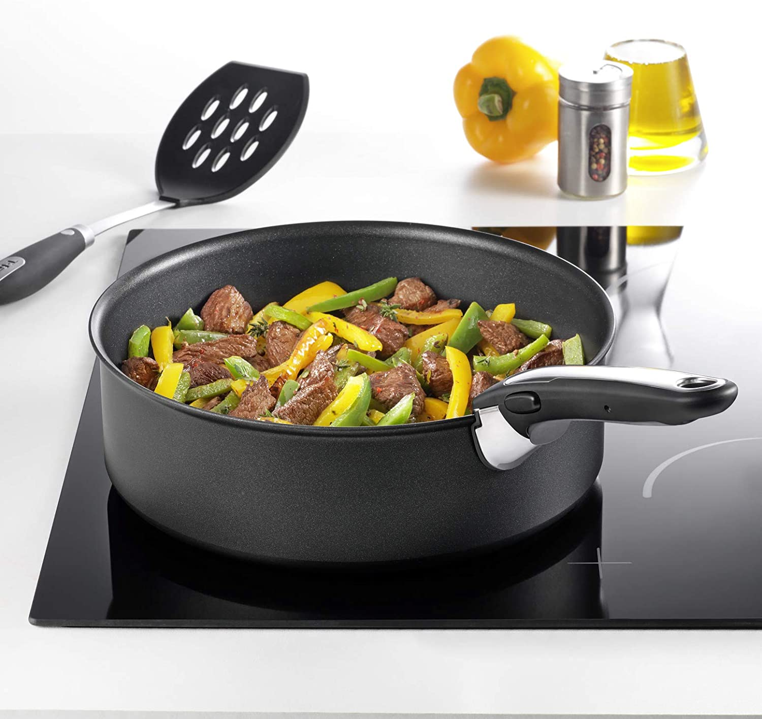 Black Tefal Ingenio Removable Handle with Stainless Steel Insert