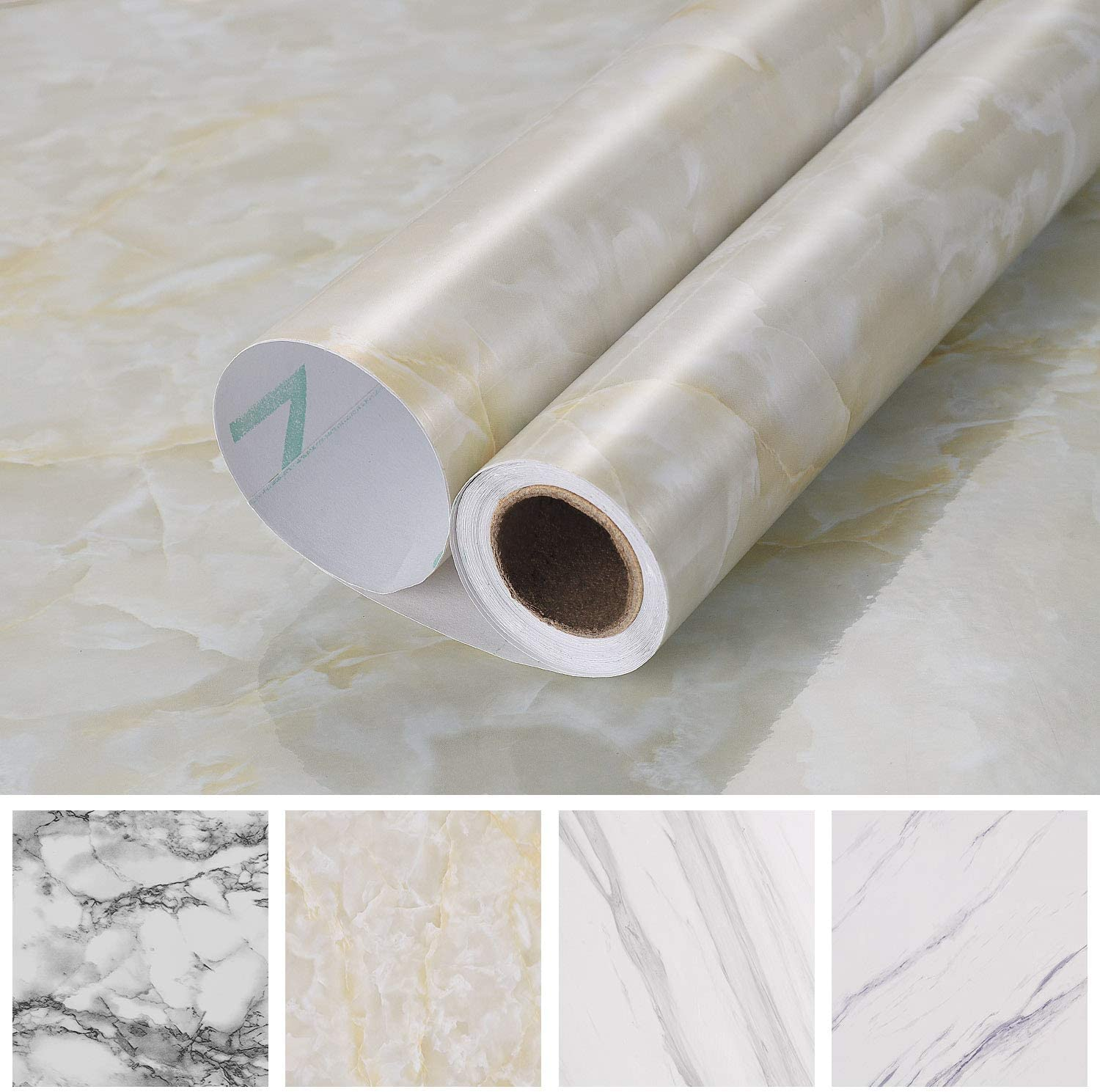 New Marble Self Adhesive Paper Decor Cover Vinyl Waterproof 15.8 X 78.8 Inches