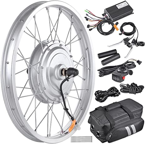 Kit de conversión de neumáticos de rueda delantera para bicicleta eléctrica de 36 V, 750 W, 50,8 cm, con motor con libro electrónico: Amazon.es: Deportes y aire libre