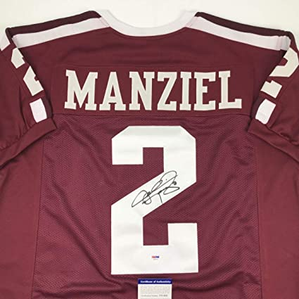 Image Unavailable. Image not available for. Color  Autographed Signed  Johnny Manziel Texas A M Maroon College Football Jersey PSA DNA COA cbfaa920e