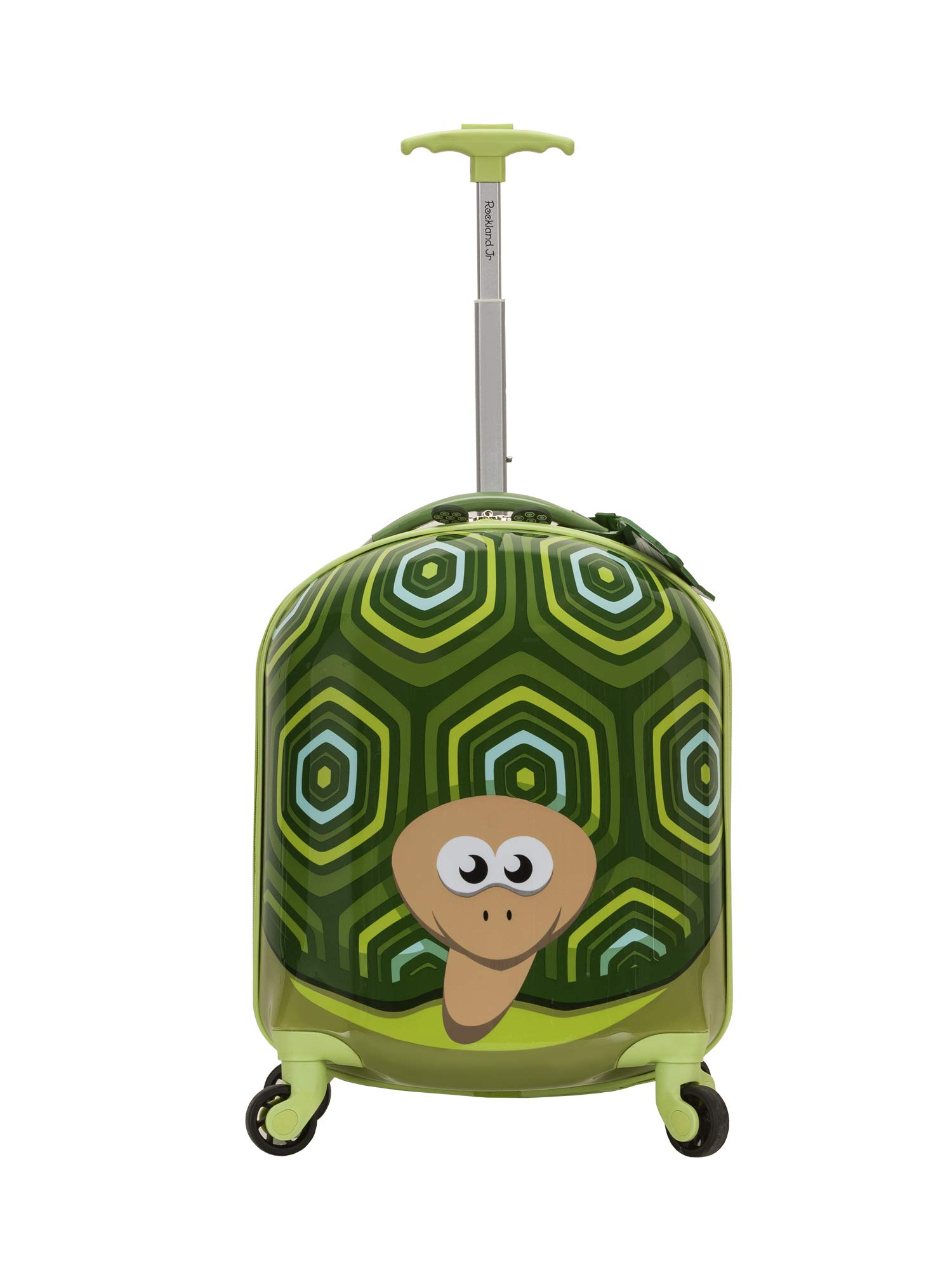 Rockland Jr. Kids' My First Luggage-Polycarbonate Hard Side Spinner, TURTLE
