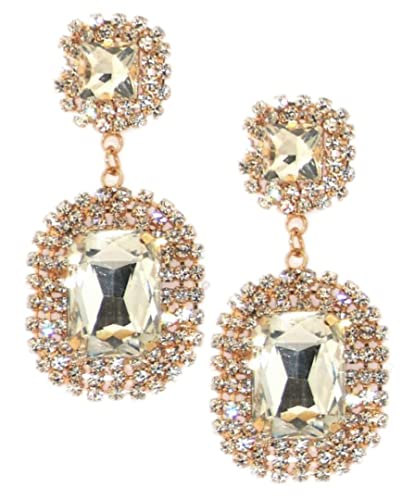 e262f932d Girly HandBags Dangle Drop Diamante Earrings Encrusted Rhinestones Womens  Jewellery Square Gemstones Accessories -- Silver: Amazon.co.uk: Jewellery
