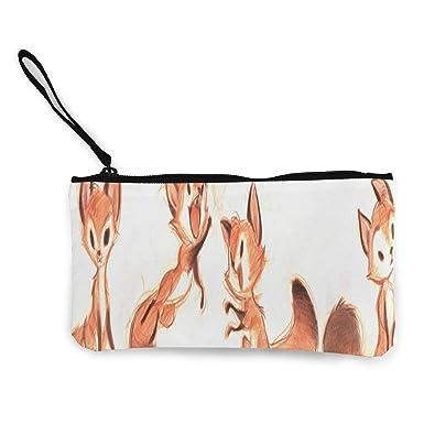 Amazon.com: Monedero de lona con diseño de zorro, para ...