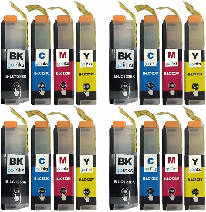 4 Go Black Set Of 4 Ink Cartridges To Replace Brother Lc123 Compatible Non Oem For Use With Brother Dcp And Mfc Printers 16 Inks Bürobedarf Schreibwaren