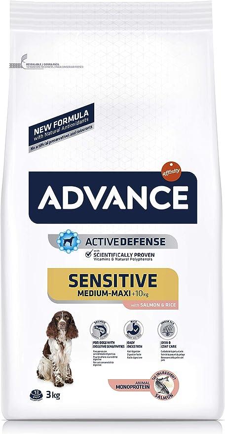 Comprar ADVANCE Sensitive - Pienso para Perros Medium-Maxi Adult con Salmón y Arroz - 3Kg