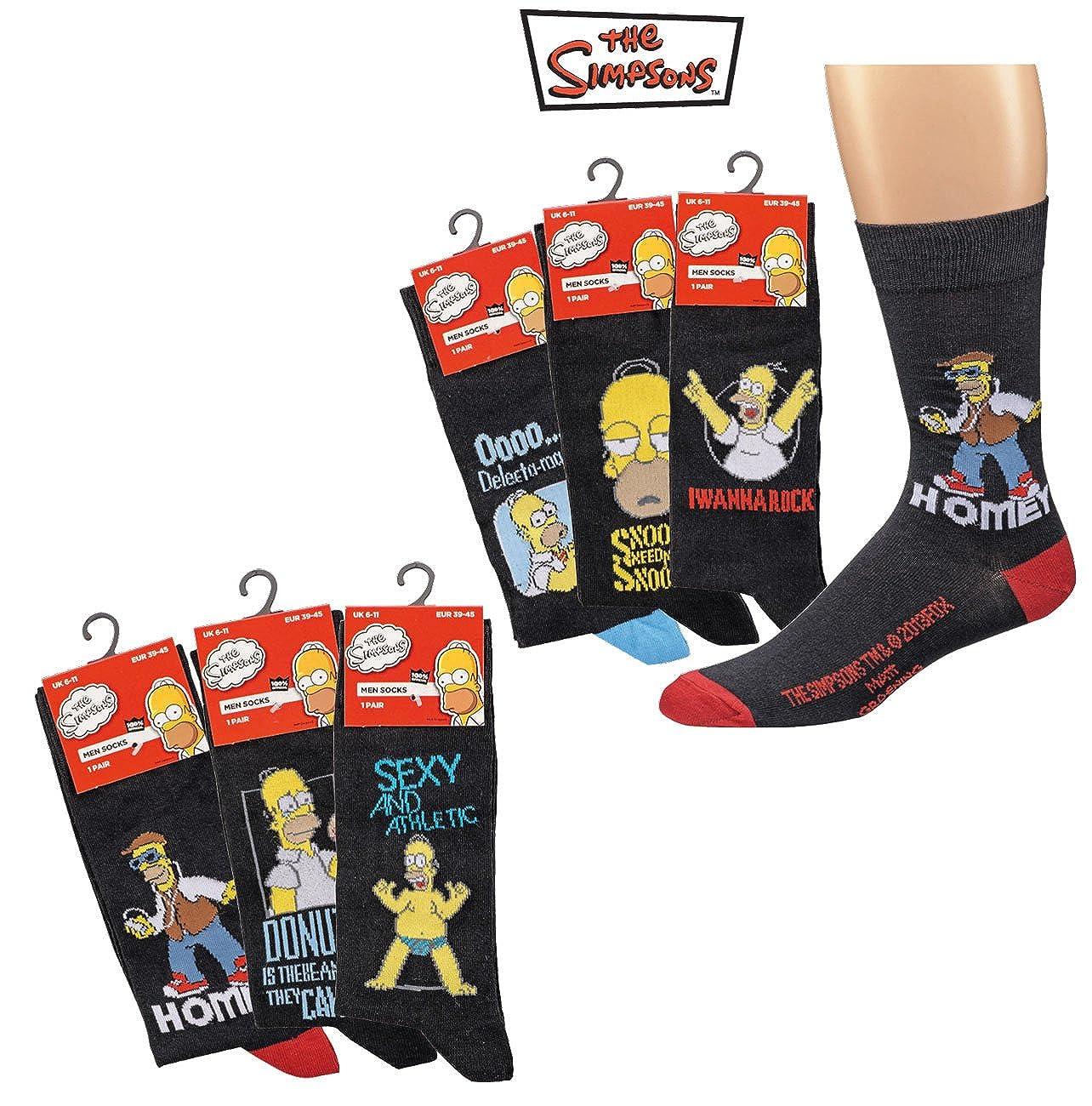 The Simpson Packung mit 12 Paar Socken Druckbild weich Elegant und langlebig