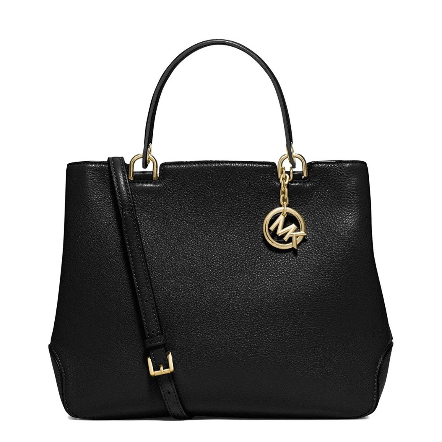 15c580ae6ddc Amazon.com: Michael Kors Women's Anabelle Leather Top Zip Tote, Black,  Large: Shoes