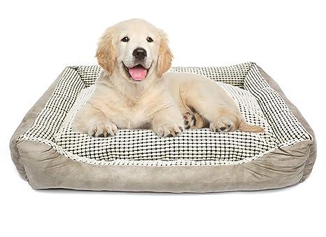 BPS Cama para Perro Gato Mascotas Materia Suave Colchoneta Cuna para Mascotas 90x75x23 cm BPS-1616