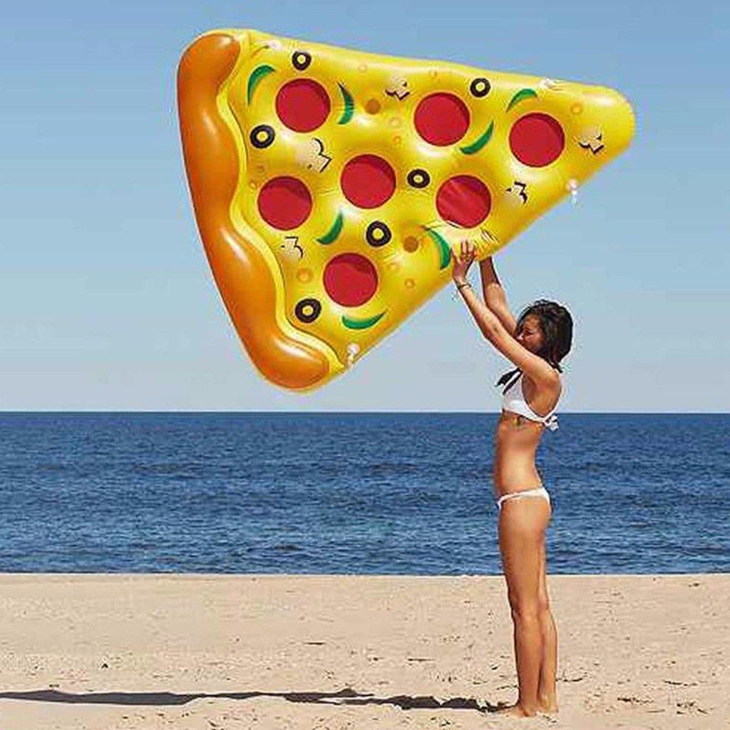 Flotador Inflable De La Piscina De La Pizza 6 X 5 Pies De La Pizza Inflable Gigante del PVC, Balsas Flotantes De La Piscina Al Aire Libre Enorme 72: ...