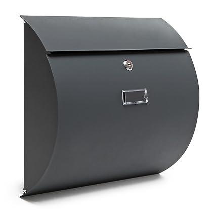 Buzón Diseño Moderno V17 Cartas Correo Atracita Acero recubierto en polvo