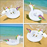 WLCN Inflatable Unicorn Baby Swimming Ring Pool Inflatable Float Raft Seat Boat PVC Material Summer Outdoor Sports Perfect Pool Beach Party Water Recreation Toys
