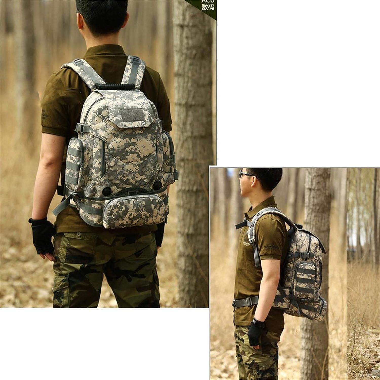 Selighting Mochila Táctica 40L Mochilas Hombre Militares MOLLE de 900D Nylon con Múltiples Bolsillos para Senderismo,Camping,Caza,Viaje (Camuflaje-1): Amazon.es: Deportes y aire libre